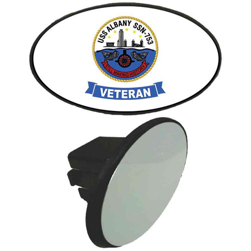 uss albany veteran tow hitch cover