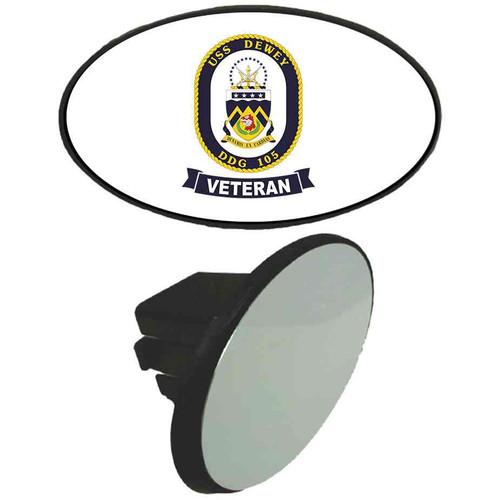 uss dewey veteran tow hitch cover