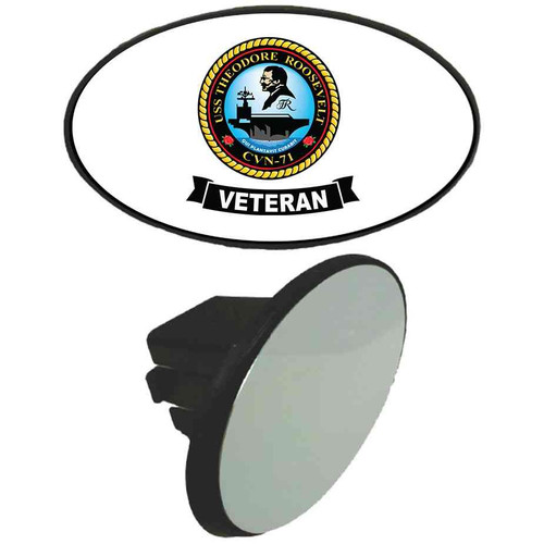 uss theodore roosevelt veteran tow hitch cover