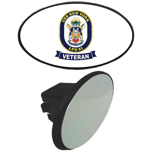 uss new york veteran tow hitch cover