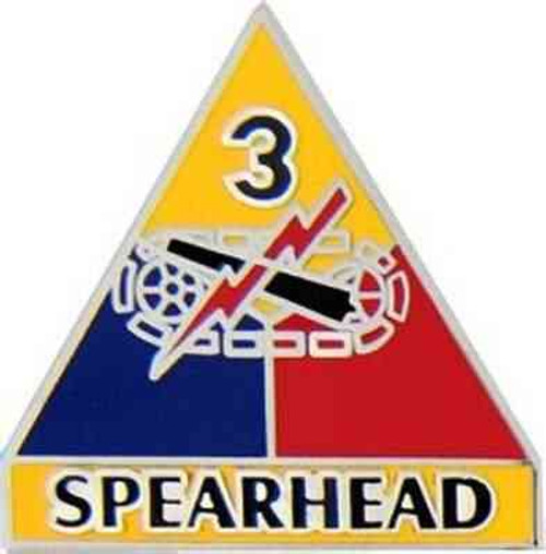 army 3rd armored div hat lapel pin