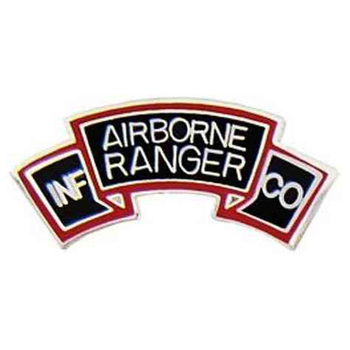 army a b rangers hat lapel pin
