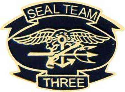 navy seal team 3 hat lapel pin