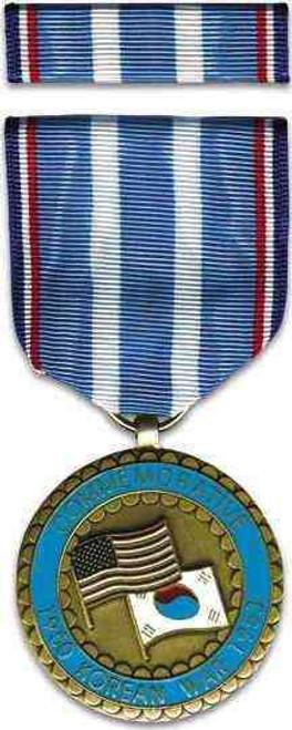commemorative korean war medal full size