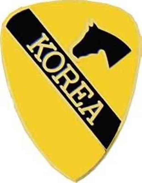 army korea 1st cav div hat lapel pin