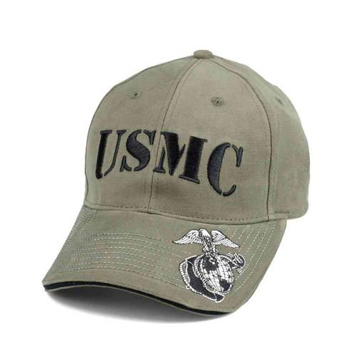 vintage o d usmc deluxe hat