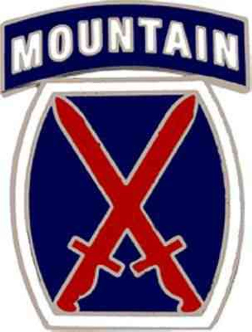 army 10th mtn div hat lapel pin