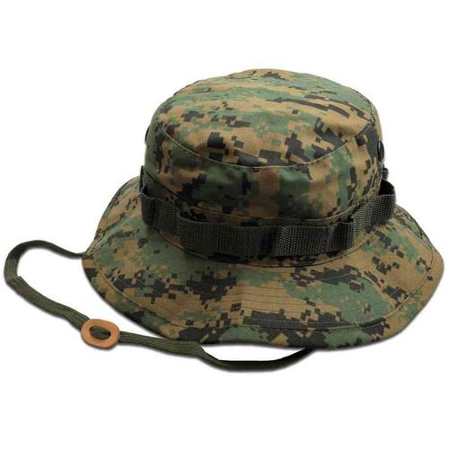 woodland digital camo boonie hat