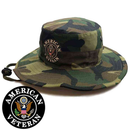american veteran boonie hat in woodland camo limited edition