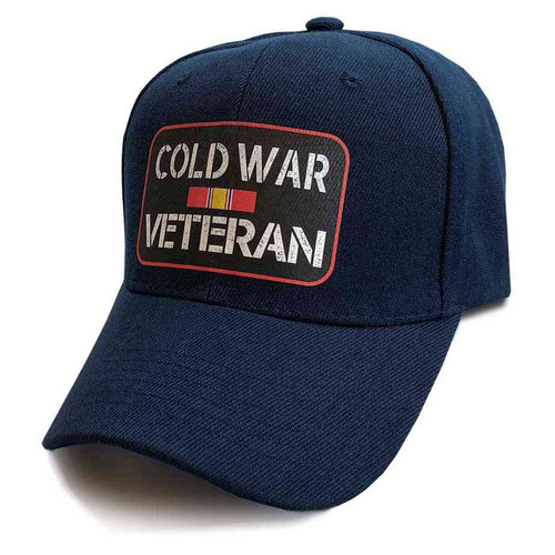 cold war veteran hat ribbon blue