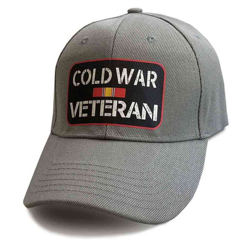 cold war veteran hat ribbon gray
