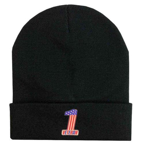 number one veteran custom edition vinyl knit winter hat