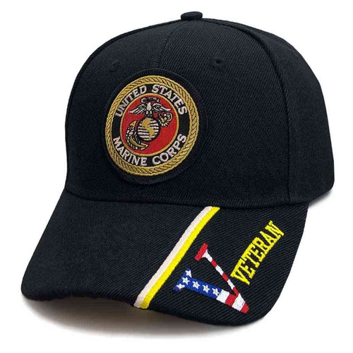 u s marine corps custom edition hat in black veteran