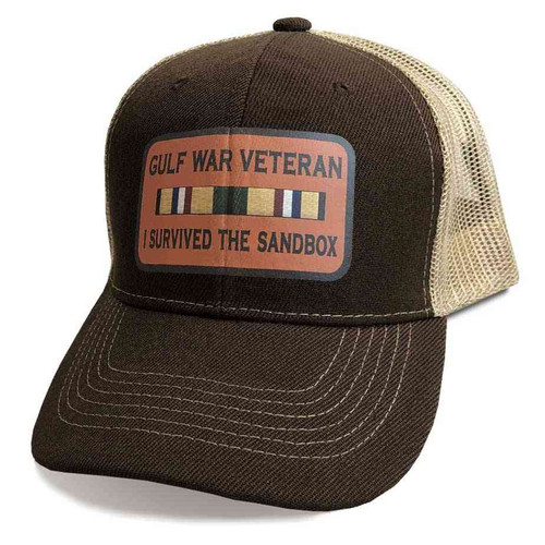 gulf war veteran hat custom vinyl emblem