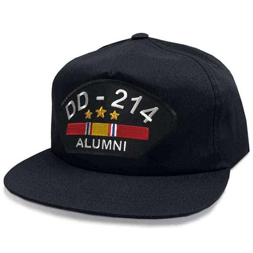 us veteran hat dd214 alumni and national service ribbon 5 panel