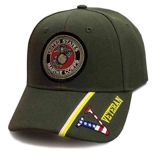 us marine corps hat eagle emblem and v veteran s