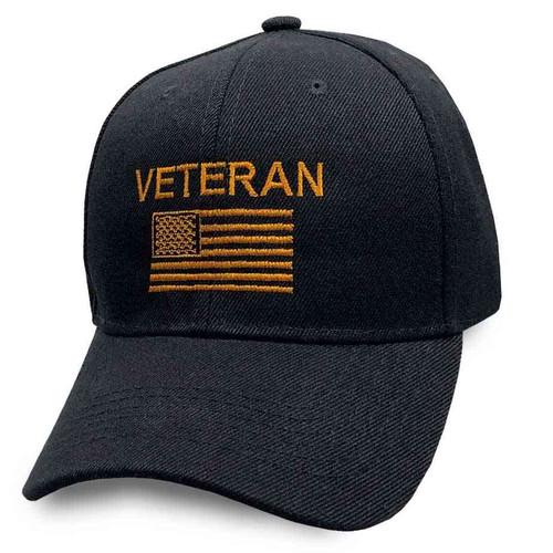 us veteran hat embroidered us flag
