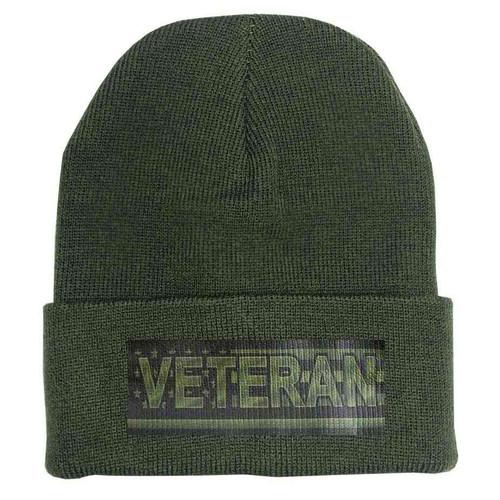 veteran u s flag custom edition vinyl knit winter hat