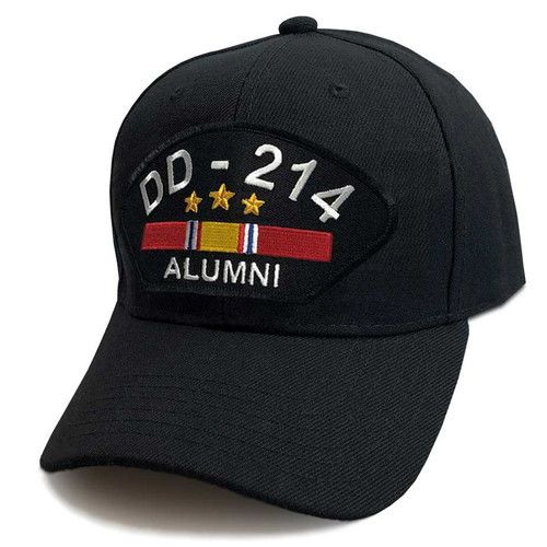 us veteran hat dd214 alumni and national service ribbon