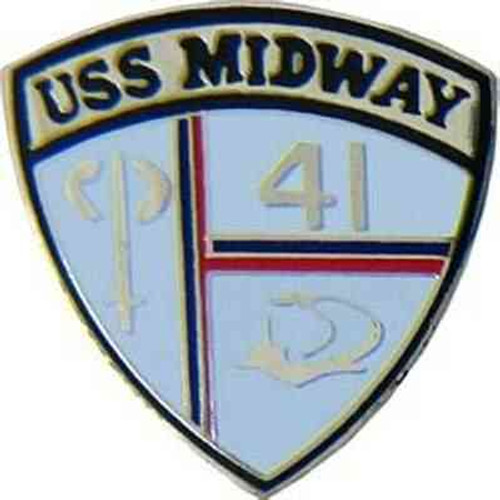 navy uss midway hat lapel pin