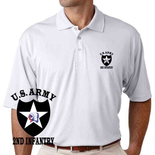 us army 2nd infantry division performance polo shirt