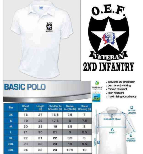 army 2nd infantry division oef afghanistan veteran performance polo shirt