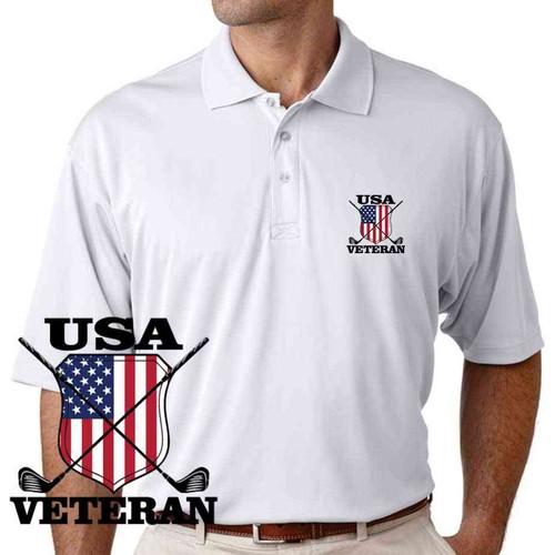 usa veteran golf performance polo shirt