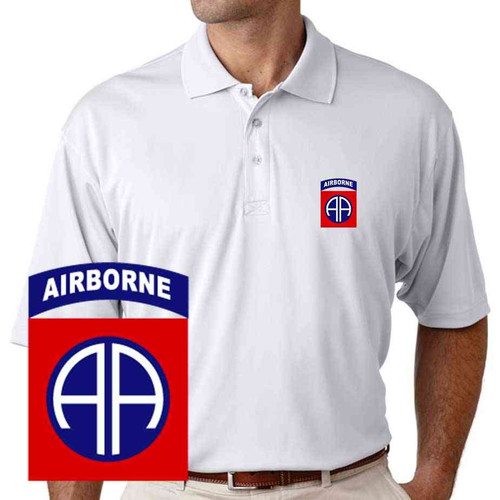 82nd airborne performance polo shirt