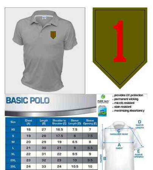 army 1st infantry division performance polo shirt