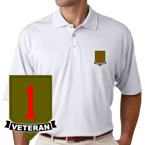 army 1st infantry veteran division performance polo shirt