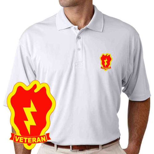 army 25th infantry division veteran performance polo shirt