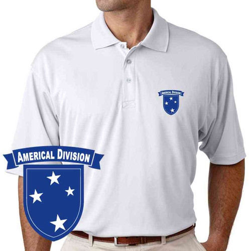 army americal 23rd infantry division performance polo shirt