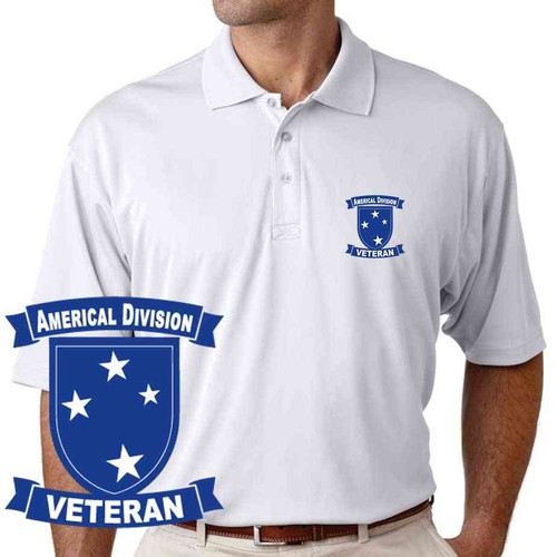 army americal 23rd infantry division veteran performance polo shirt