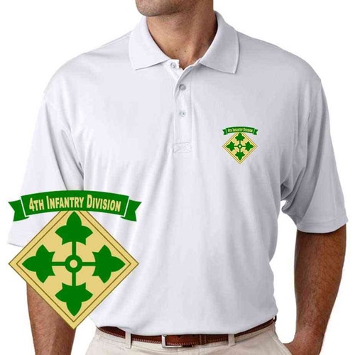 army 4th infantry division performance polo shirt