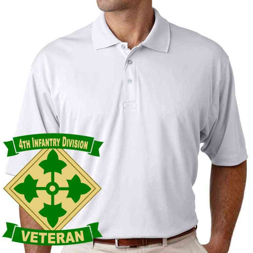 army 4th infantry division veteran performance polo shirt