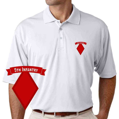 army 5th infantry division performance polo shirt
