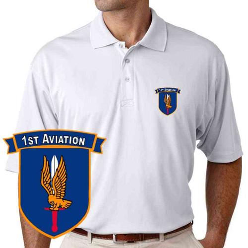 army 1st aviation performance polo shirt