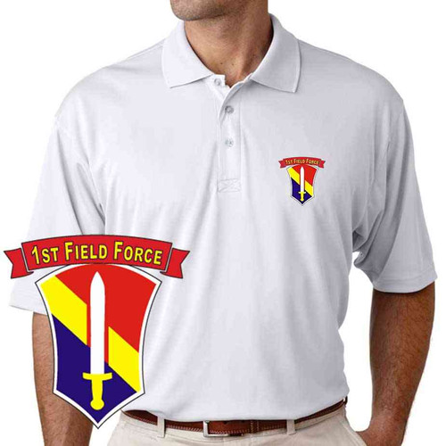 army 1st field force performance polo shirt