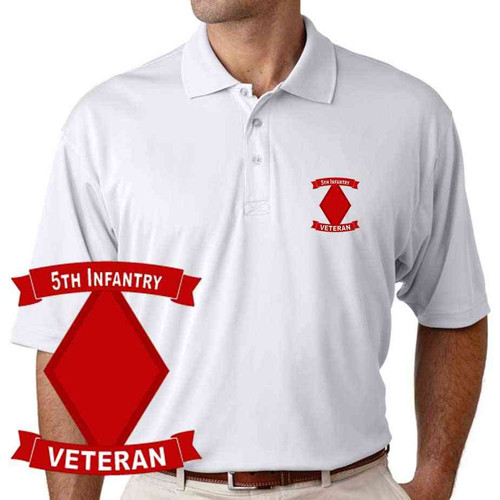 army 5th infantry division veteran performance polo shirt