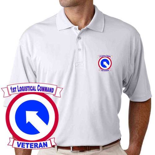 army 1st logistical command veteran performance polo shirt