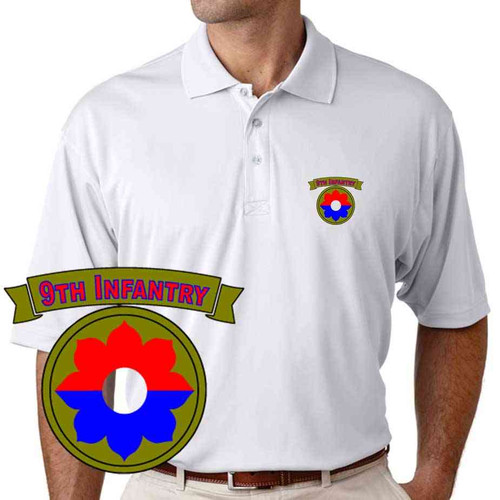 army 9th infantry division performance polo shirt