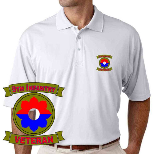 army 9th infantry division veteran performance polo shirt