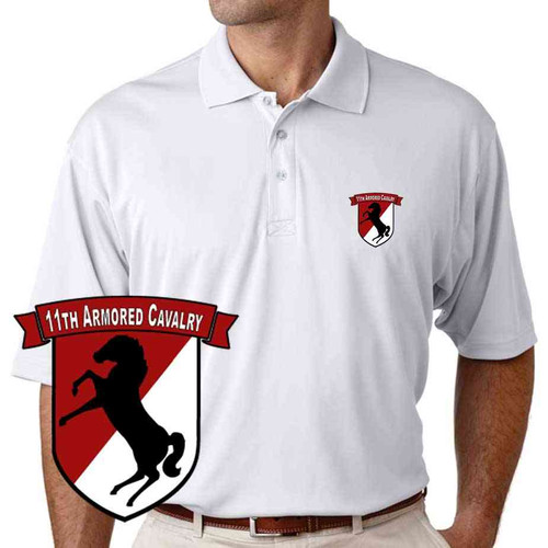 11th armored cavalry performance polo shirt