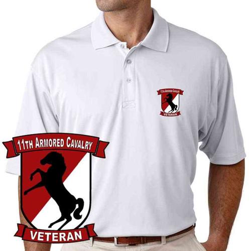 11th armored cavalry veteran performance polo shirt