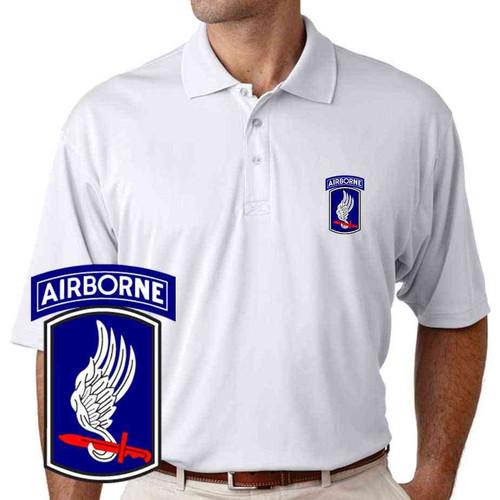 army 173rd airborne brigade performance polo shirt