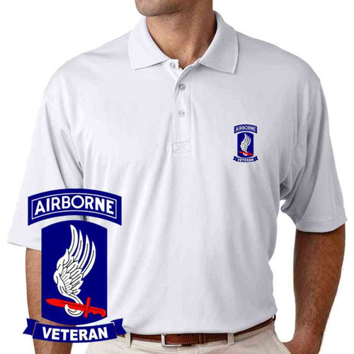 army 173rd airborne brigade veteran performance polo shirt