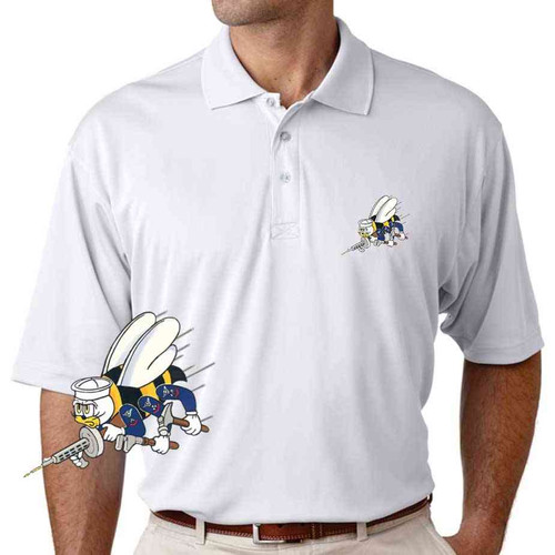 navy seabees performance polo shirt
