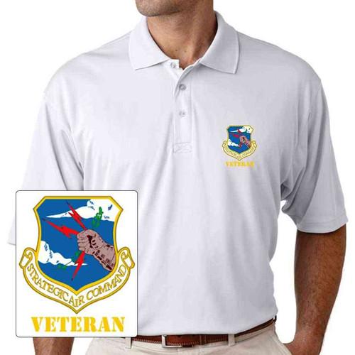air force strategic air command veteran performance polo shirt