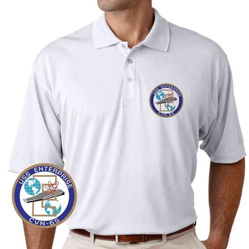 navy uss enterprise performance polo shirt