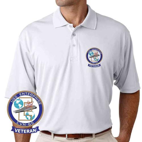 navy uss enterprise veteran performance polo shirt